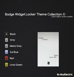 Badge Widget Locker Theme by MayElectric