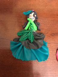 Fimo art girl with nature colors  girl by IceEmbers