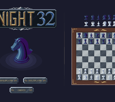 Knight 32 - chess mockup by kirokaze