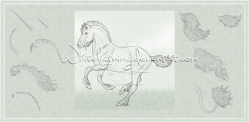 Horse Lineart Pack by Whiteligtning