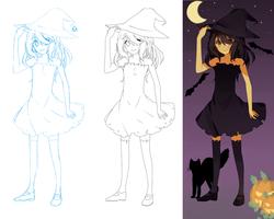 In the making of: Halloween witch by Otromeru