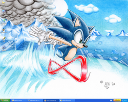 Sonic the Wallpaper by neomiguelangel
