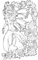 Spring is here....lineart by Namtia