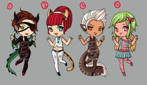Chibi Adopts (open) 200 point by kingston-arakite