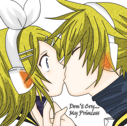 Rin x Len - Don't Cry... My Princess by Hibiki-Kagamine