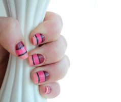Pink Ombre Stripe by RobertsPhotography