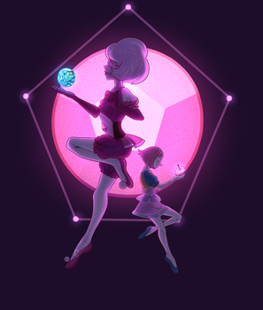 Pink Diamond and Pearl by QuasariusCyborg