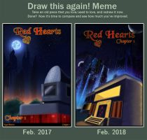 Draw This Again! Red Hearts Ch.1 Cover by YunikoYokai