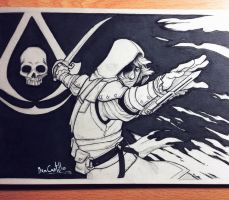 Inktober day 29 - Edward Kenway by beacascabel