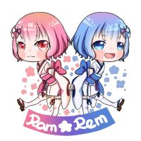 Loli Ram and Rem by HaruMushi2