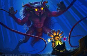 The Temptation of Majora by FlammablePerson