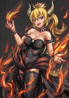 Bowsette by MikazukiBlue