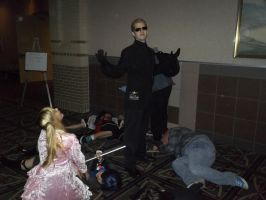 Wesker has killed the other Cosplayers by BlueEyesMaster