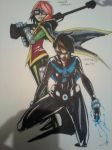 NIghtwing 2 and robin 4 by coolmonkeyd