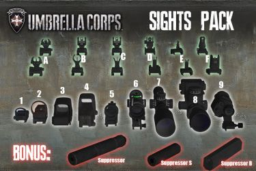 Umbrella Corps - Sights Pack [XPS Models] by 972oTeV