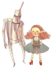 Dorothy and the Tin Man by azurecorsair