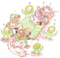Arcanine Tickle Torture Tickled By The Sunfloras