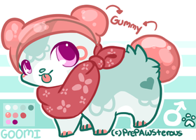 :Goomi Reference Sheet(offer to adopt): by PrePAWSterous