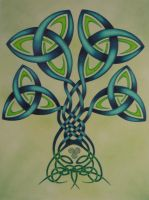 celtic tree by dragynsart