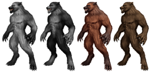 Werewolf Stock 2 by Rhabwar-Troll-stock