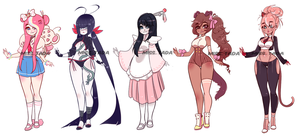 (CLOSED) Adoptables .o38 by Mymy-TaDa