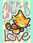 Cat is Love Mini Poster by OracleSaturn
