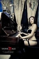 Lingerie and Piano by OttoMarzo