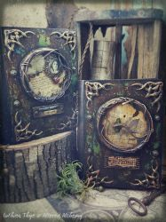 Memoir and Homecoming - Mixed Media Journals by LuthienThye