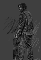 Daryl Dixon Sketch by AmandaTolleson