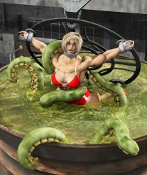 Muscle Girl Bondage Tentacle by Stone3D
