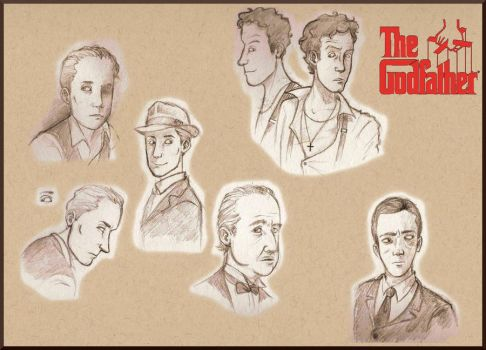 'The Godfather' Drawings by TheRandomAnchovy