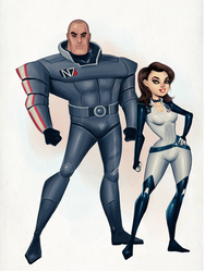 Cartoon style Shepard and Lawson by clc1997