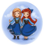 Anna and Ariel by daekazu