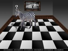 Zebra in the middle of nowhere by razangraphics