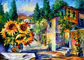 Greek Noon by Leonid Afremov by Leonidafremov