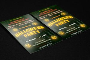 Halloween Flyer Free PSD Template by KlarensM