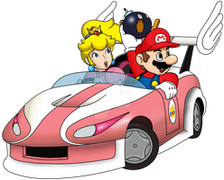 Mario and Peach Wild Wing (Double Dash Version) by FamousMari5