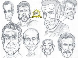 Celebrity Caricatures by AngelCrusher