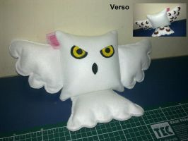 Handmade Harry Potter Hedwig the Owl Pillow by RbitencourtUSA