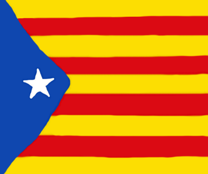 Flag of Catalonia's Republic - Painted ! by Jajan313