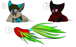 Chinkachu and Gelibird adopts. by p-e-r-f-o-r-m