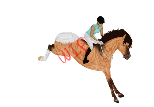 Bareback Jumping Contest Entry WIP by The-Last-Filly