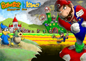 Bowser and Kamek SuperstarSaga by Drezus