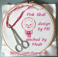 Pink Skull by honeymil