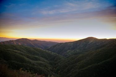 Sunset San Gabriels by scir