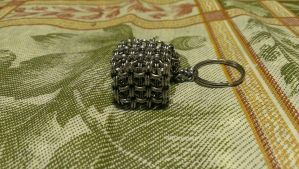 Stainless Steel Chainmaille Cube by Des804