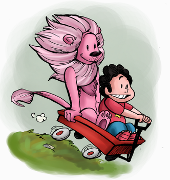 Steven and Lion by ExOh9