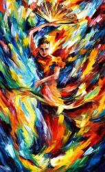 Flamenco by Leonid Afremov by Leonidafremov
