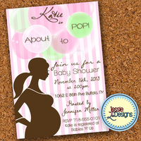 Girl About To Pop Baby Shower Invite by Jesarie
