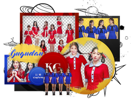 GUGUDAN   CHOCOCO   PACK PNG by KoreanGallery